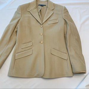 Ralph Lauren Equestrian Blazer Cotton Suede Trim 8